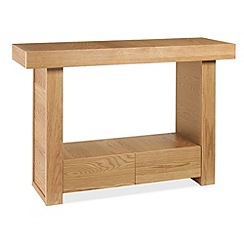 Debenhams - Oak finished 'Alpha' console table