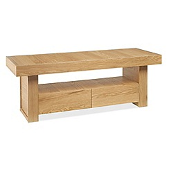 Debenhams - Oak finished 'Alpha' TV unit