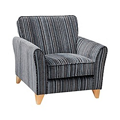 Debenhams - Striped 'Fyfield Salsa' armchair