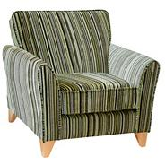 Lime 'Fyfield Salsa' accent chair with light feet