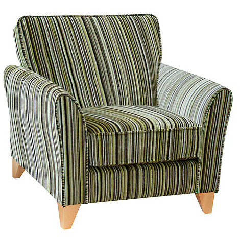 Lime Green Striped Armchair