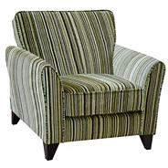 Lime 'Fyfield Salsa' accent chair with dark feet