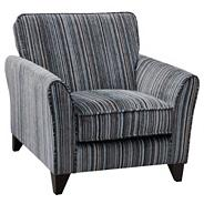 Taupe and salsa 'Fyfield' accent chair with dark feet