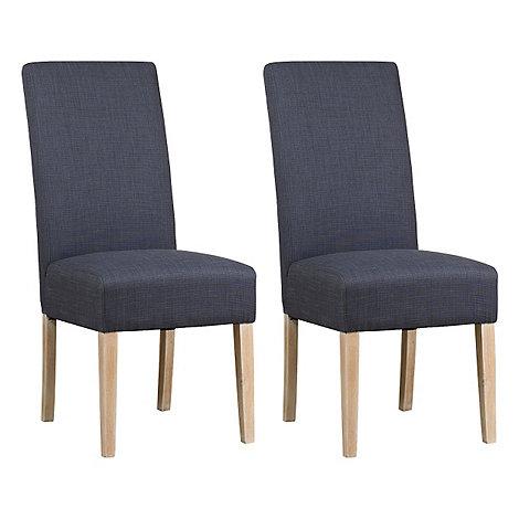 Debenhams - Pair of grey fabric +Palma+ dining chairs