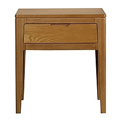 Debenhams - Oak 'Nord' side table with single drawer