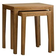 Oak 'Nord' nest of 2 tables