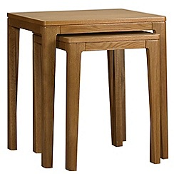 Debenhams - Oak 'Nord' nest of 2 tables