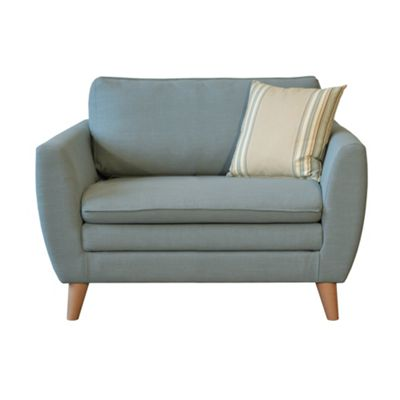 Blue/Cream Hove Snuggler armchair