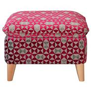 Dark pink 'Hove Deluxe' foot stool