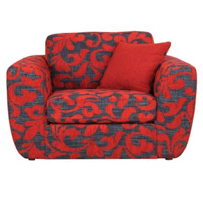 Patterned red Carousel snuggler chair