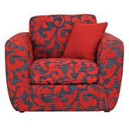 Red patterned 'Carousel' armchair