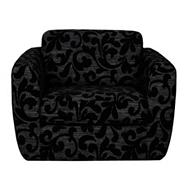 Patterned peat 'Carousel' swivel chair