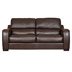 Debenhams - Large leather 'Berber' sofa