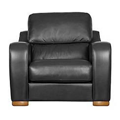 Debenhams - Leather 'Berber' armchair
