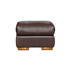 Debenhams - Leather 'Berber' footstool