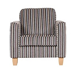 Debenhams - Striped 'Dante' armchair