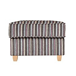 Debenhams - Striped 'Dante' footstool