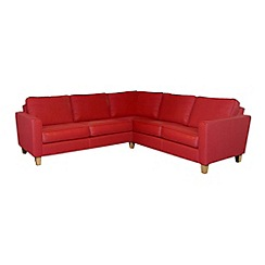 Debenhams - Leather 'Dante' corner sofa