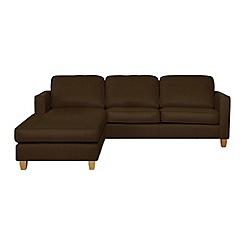 Debenhams - Leather 'Dante' left-hand facing chaise corner sofa