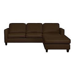 Debenhams - Leather 'Dante' right-hand facing chaise corner sofa