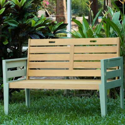 Green Verdi outdoor 2seater bench