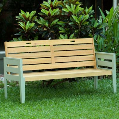 Green Verdi outdoor 3seater bench