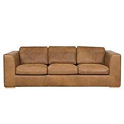 Debenhams - Extra-large tan leather 'Paris' sofa
