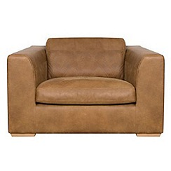 Debenhams - Tan Leather 'Paris' loveseat