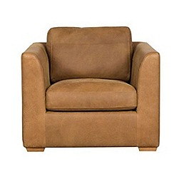 Debenhams - Tan Leather 'Paris' armchair