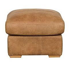 Debenhams - Tan Leather 'Paris' footstool