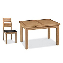 Debenhams - Oak 'Provence' medium extending table and 6 slatted back chairs