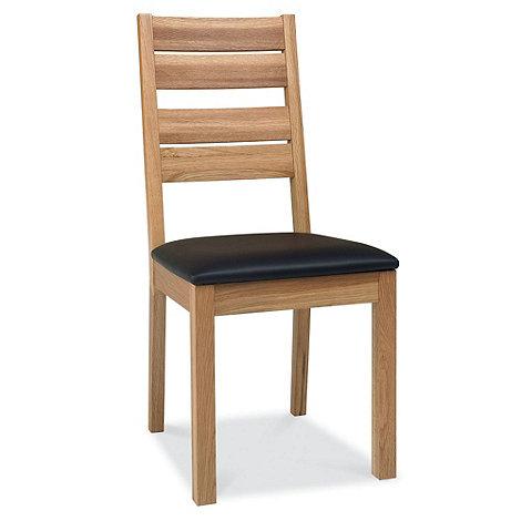 Debenhams - Pair of oak +Provence+ slatted back dining chairs