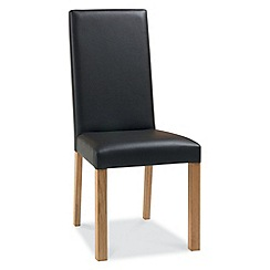 Debenhams - Pair of dark brown 'Provence' dining chairs