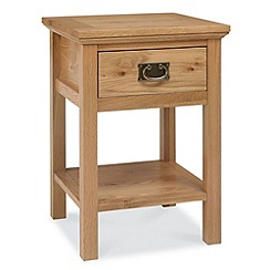 Debenhams - Oak 'Provence' side table with single drawer