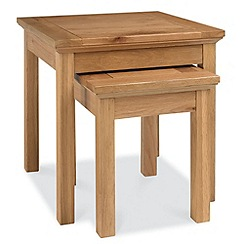 Debenhams - Oak 'Provence' nest of 2 tables