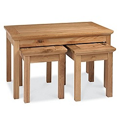 Debenhams - Oak 'Provence' nest of coffee tables