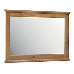 Debenhams - Oak 'Provence' wall mirror