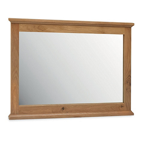 Debenhams - Oak +Provence+ wall mirror