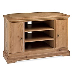 Debenhams - Oak 'Provence' corner TV unit