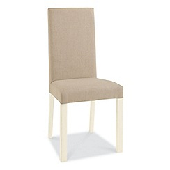 Debenhams - Pair of beige fabric 'Provence' dining chairs