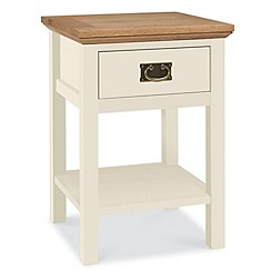 Debenhams - Oak and painted 'Provence' side table with single drawer