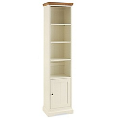 Debenhams - Oak and painted 'Provence' bookcase with single cupboard