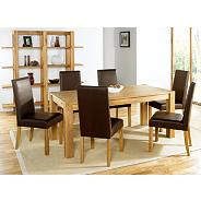 Oak 'Lyon' small end extension dining table