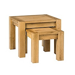 Debenhams - Oak 'Lyon' nest of 2 tables