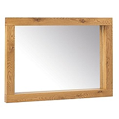 Debenhams - Oak 'Lyon' wall mirror