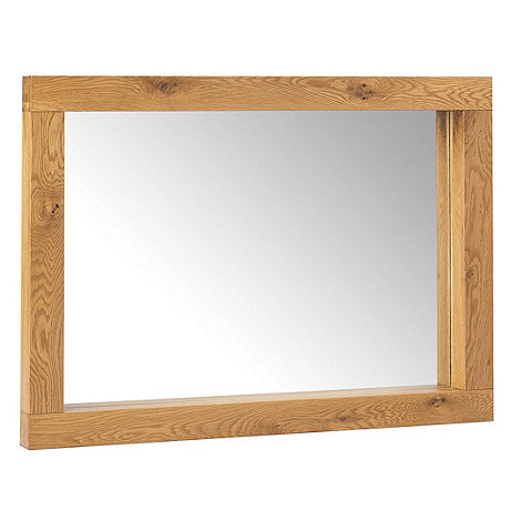 Debenhams - Oak +Lyon+ wall mirror