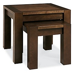 Debenhams - Walnut 'Lyon' nest of 2 tables