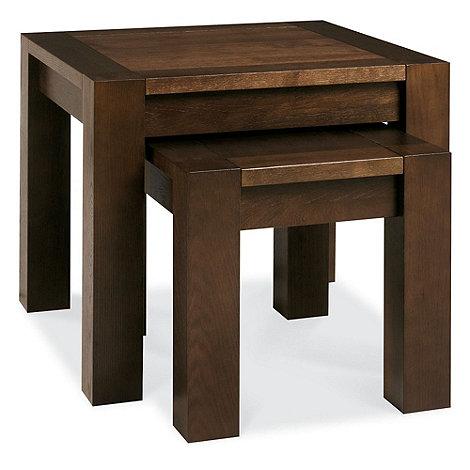Debenhams - Walnut +Lyon+ nest of 2 tables