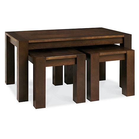 Debenhams - Walnut +Lyon+ nest of coffee and side tables