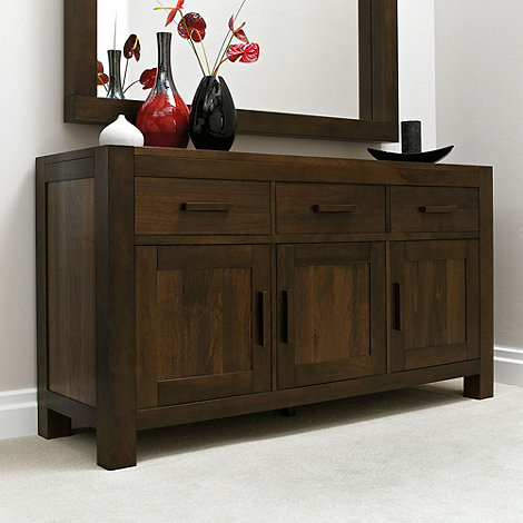 Debenhams - Walnut +Lyon+ small sideboard